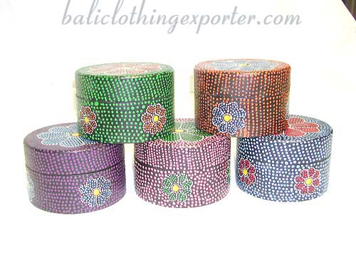 Handicrafts, bali jewelry box, mini storage cases, flower designed boxes