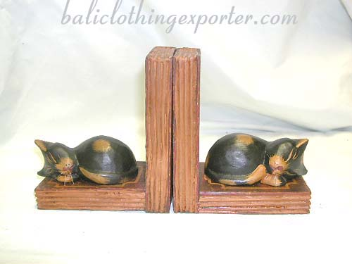 Book ends, wooden carvings, bali figurines, reading gifts, indonesian crafted collectibles, library crafts