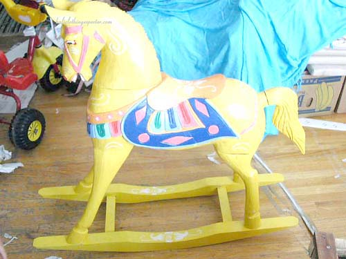 Rocking horse, crafted toys, handmade kids toy, wooden horses, antique style collectibles