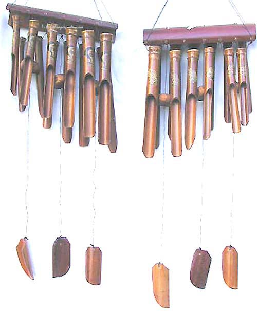 Wooden wind chimes, carved home decor, rustic designed crafts, antique sound gift, wood decorations