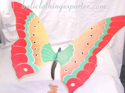 Handcrafted bali hangings, ceiling decoration, butterfly designs, arts and crafts, unique gift, painted decor