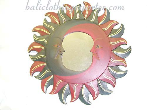 Celestial designs, wooden crafts, decorative mirror, bali home decor, make-up mirrors, tropical modern art