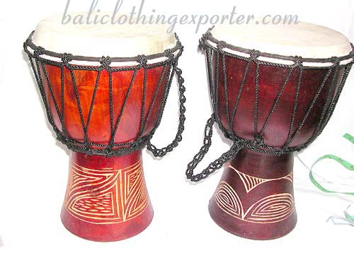 Handcrafted drumming instruments, exotic musical ornaments, percussions, wooden decor