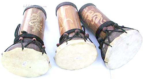 Beaded home instruments, wooden crafted drums, drumming music makers, bali gift, novelty products