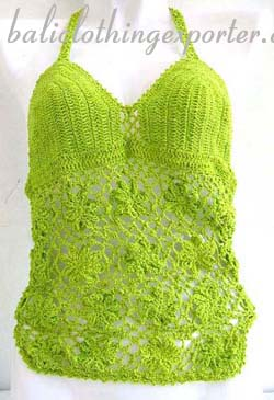 handmade apparel, knit beach wear, summer tankini, crochet fashion clothing, island wear