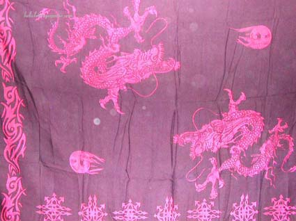 unisex wraparound, dragon symbol clothing, bali sarong, holiday attire, summer clothing, wrap dress