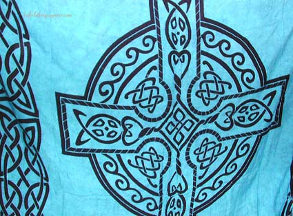 Celtic knot designs, Celtic  symbol clothing, religious symbol fashions beachwear, wrap sarong, indonesia cover up