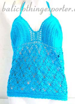 Batik crochet wear, beach fashions, ladies summer clothing, club wear, thread art tops, crafted shirts