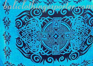 Religious symbol art, celtic design clothing, bali shawl, trendy fashion, summer apparel