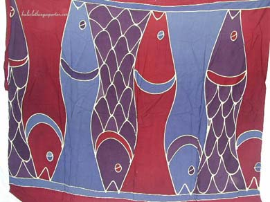 Ocean life sarong, summer fashions, men clothing, handcrafted wraps, exotic apparel