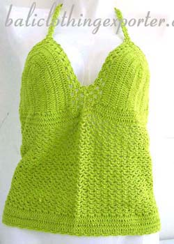 Fantasy fashions, womens apparel, beach wear, island clothing, crochet shirt, halter top