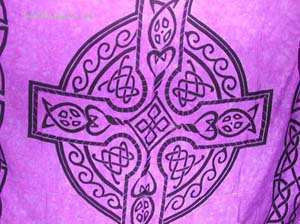 Celtic cross fashions, religious designed sarong, summer apparel, beach blanket, resort wear, womens wrap dress