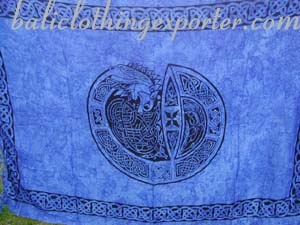Celtic art sarong, beach wear, symbol designed wrap, summer sarongs, wrap  dress, resort fashions