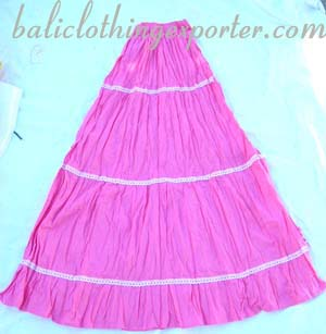 Handcrafted clothing, crinkle skirt, ladies apparel, summer fashion, resort wear, bali clothes