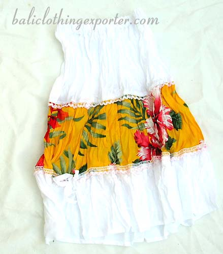 Flower dress skirt, summer long skirt, spring kids urban clothing, beach apparel, hawaiian fashions