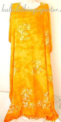 Balinese dress, womens summer kaftan, beach cover up, crafted fashion wear, island casual clothing