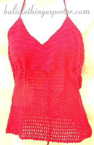 Womens tank top, trendy summer apparel, sexy crochet shirt, vacation clothing, batik fashions, club wear