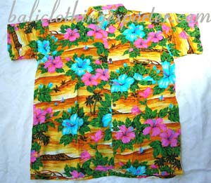Casual wear shirt, mens aloha shirts, fantasy wear, tropical clothing, flower print tops, tahiti apparel