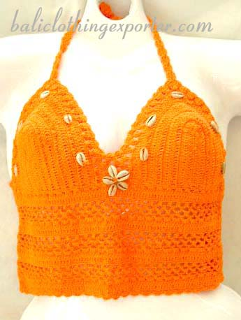 Hand-made fashion shirt, ladies crochet top, unique club wear, resort clothing, bali style apparel, sexy club wear