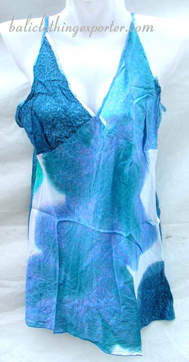 V-neck shirts, womans tie dye apparel, summer clothing, island wear, bali bali fashions, spring style tank top