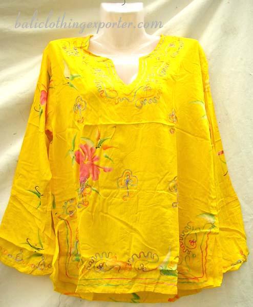 Artsy fashion wear, ladies urban clothing, tropical style shirt top