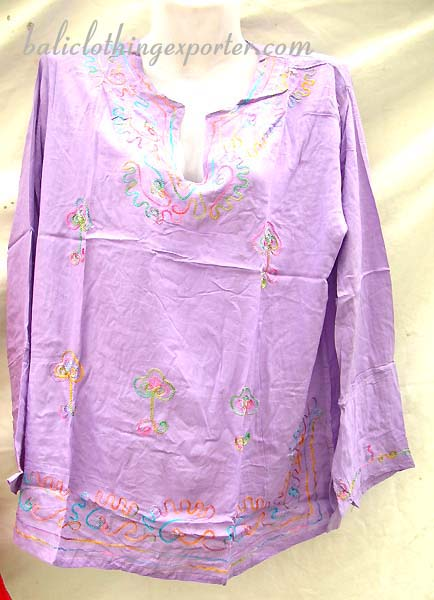 Comfort summer shirt, thread art tops, ladies summer fashion apparel, batik wear, unique clothing, island wear